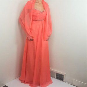 NWOT May Queen coral pink prom/bridesmaid's dress